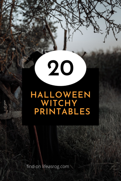Halloween Witchy Printables