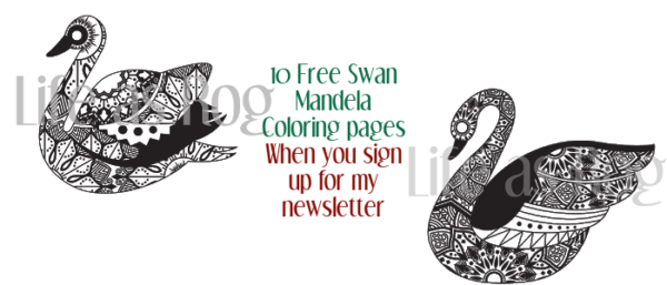 Swan mandela coloring sheets