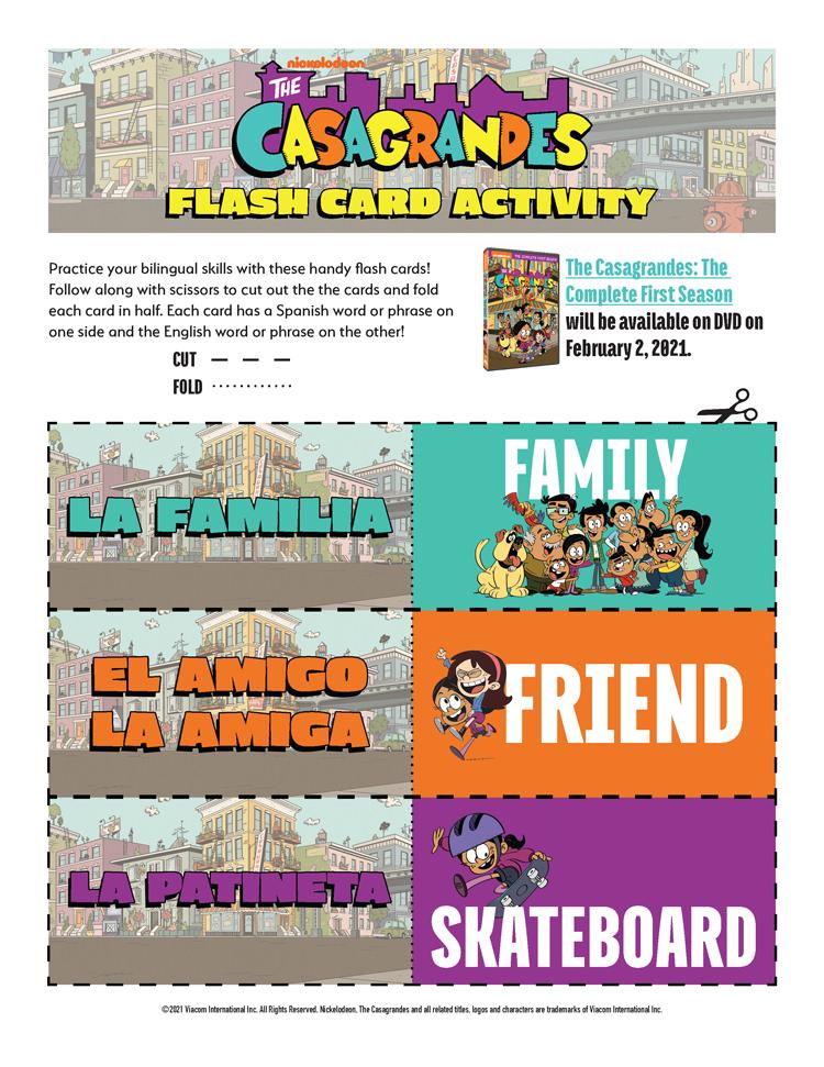 Spanish-English Flash Cards