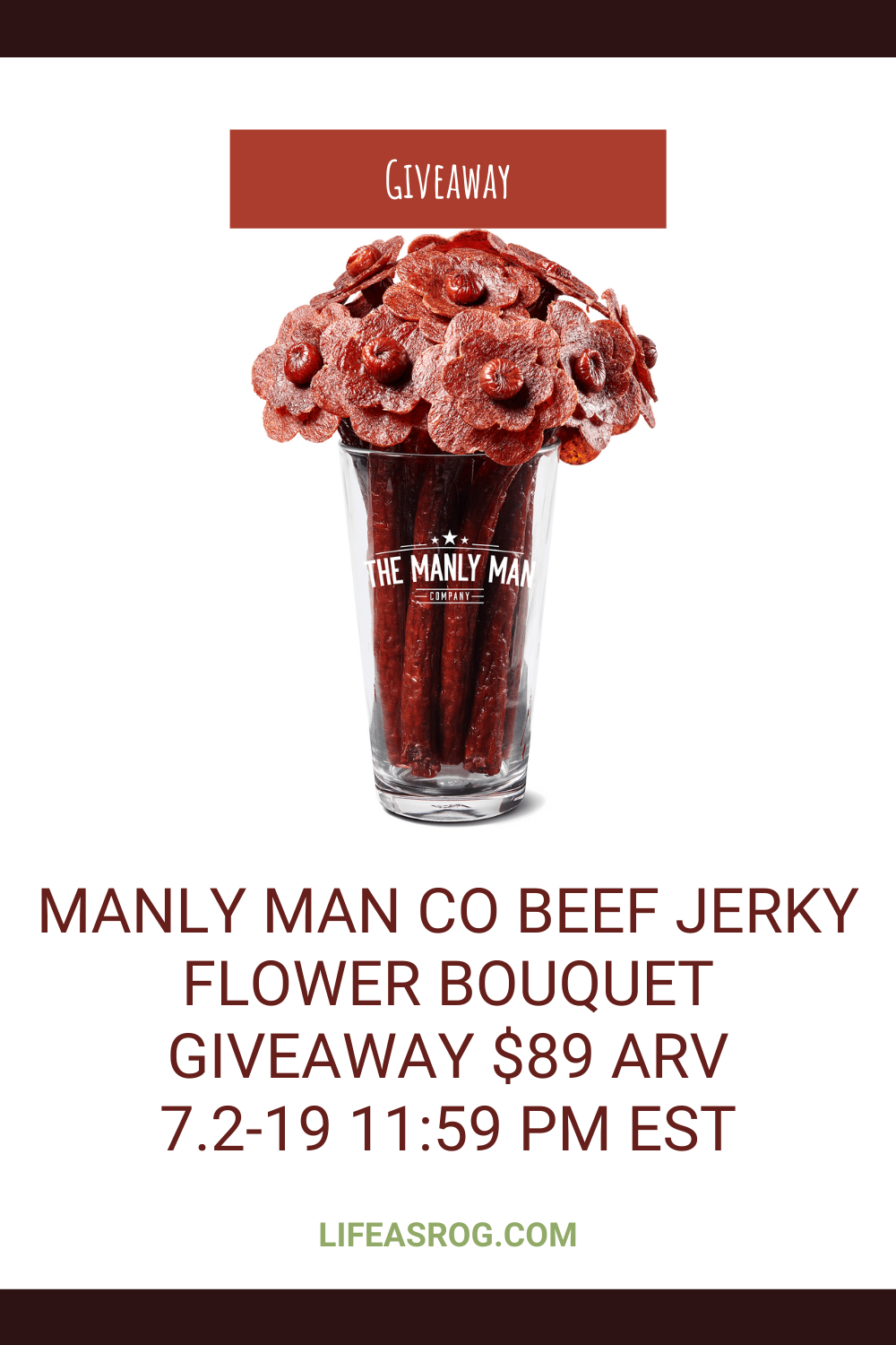 Manly Man Co Beef Jerky Flower Bouquet Giveaway $89 ARV
